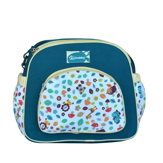 Tas Bayi Medium Zoo Series Hijau Saku Oval Print