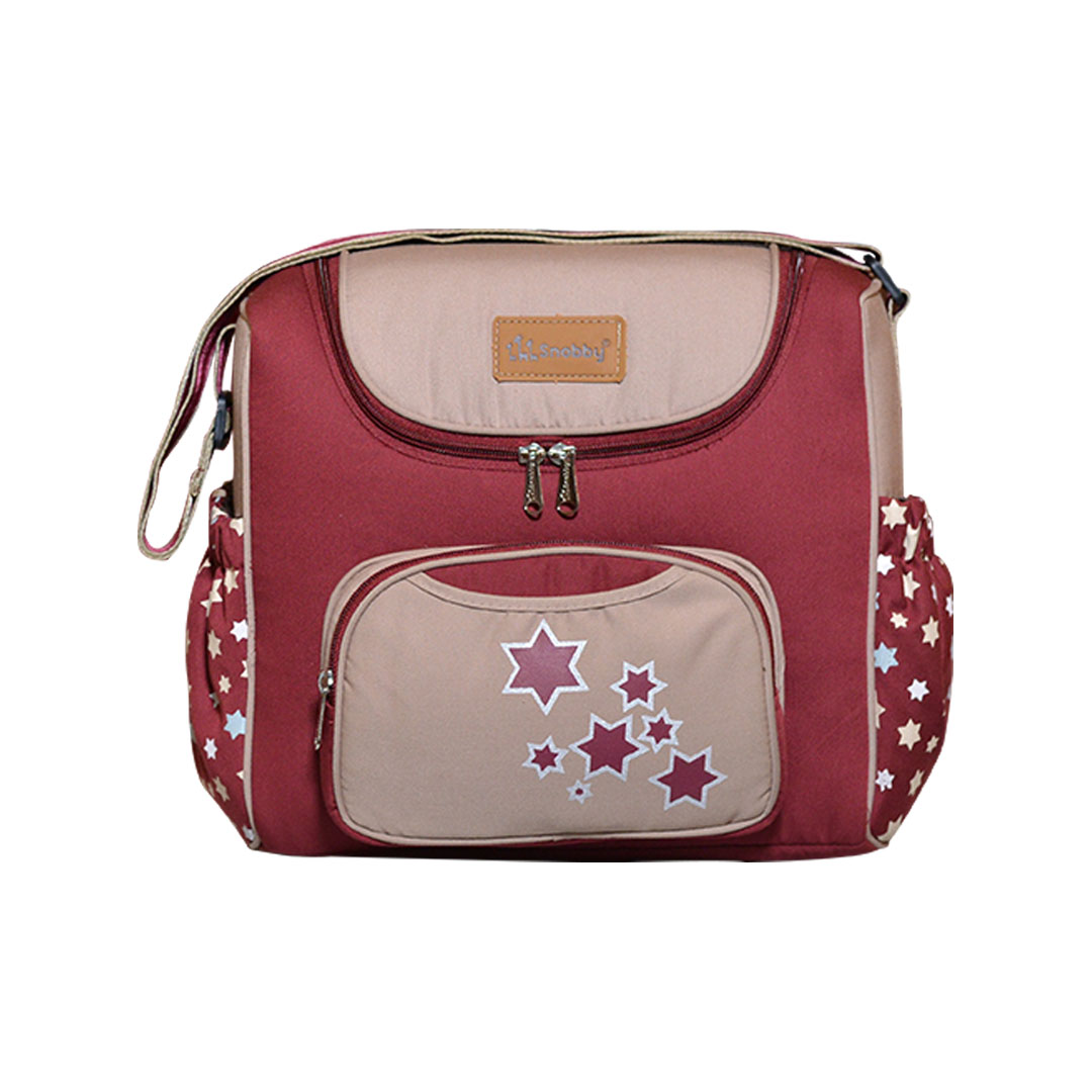 Tas Bayi Medium Saku Oval Print Lucky Star